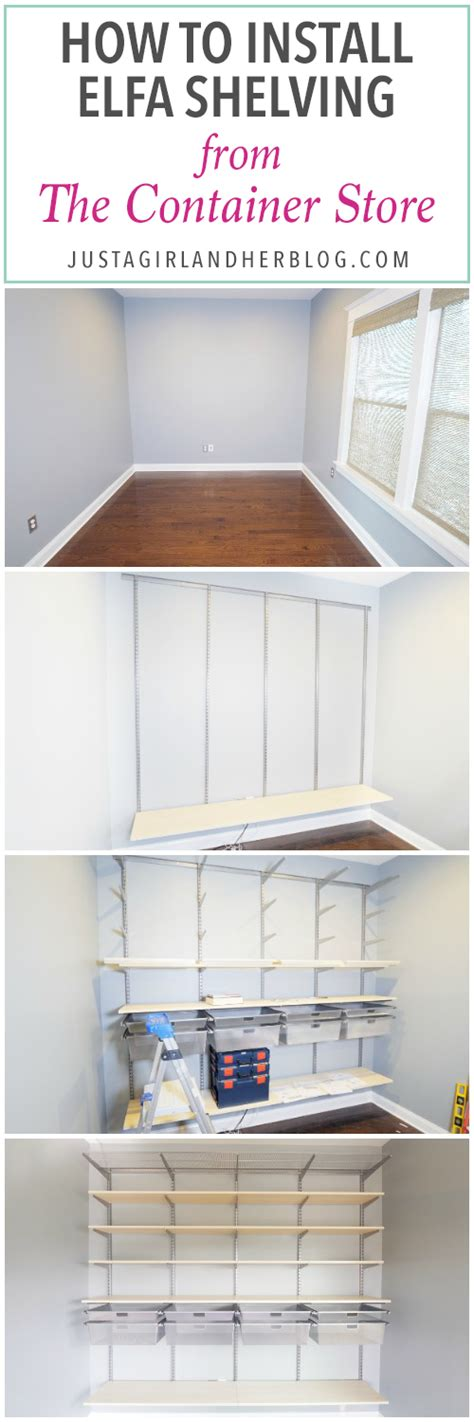 Elfa Shelf Installation by How To Install Elfa Shelving From The Container Store