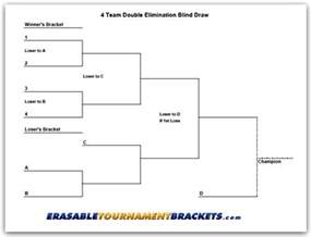 6 Team Draw Template by 4 Team Blind Draw Tournament Bracket
