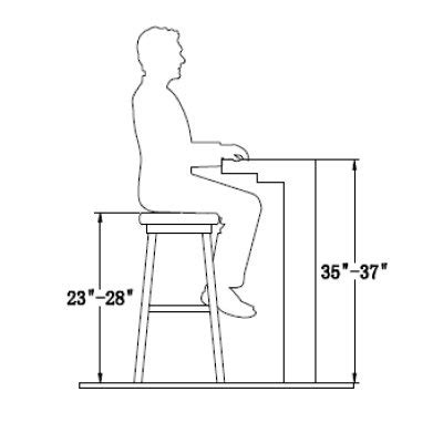 Standard Bar Stool Seat Height by Your Guide To Finding The Bar Stool Height