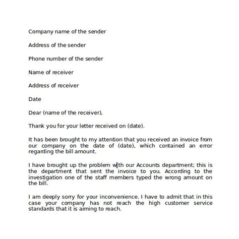 Apology Letter Format For Business Business Apology Letter 7 Free Documents In Pdf Word