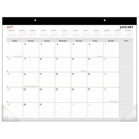 Office Depot Brand Monthly Desk Pad Calendar 22 X 17 Office Desk Calendar