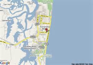 florida map amelia island map of hton inn amelia island at fernandina