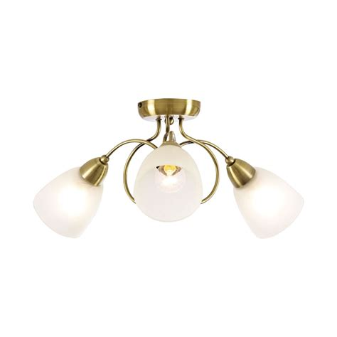 Brass Ceiling Light Fittings Wilko Ceiling Light Fitting Antique Brass 3 Arm At Wilko