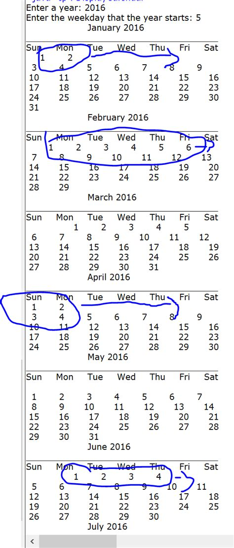 a calendar in java how to display calendar in java stack overflow