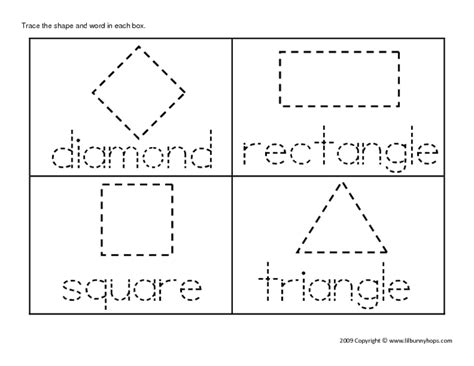 shape tracing worksheets free worksheets library