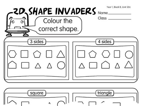 shapes worksheet ks1 learning clip iwb resources for elementary math