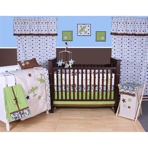 bacati crib bedding bacati camo air 10 piece nursery in a bag crib bedding set