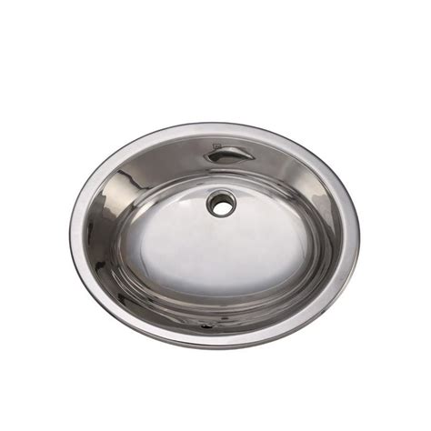 oval stainless steel bathroom sinks shop decolav simply stainless polished stainless steel