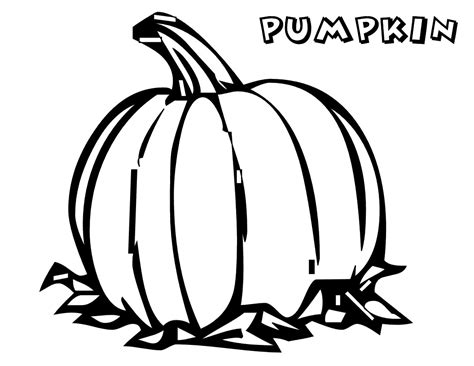 Galerry coloring page for pumpkin