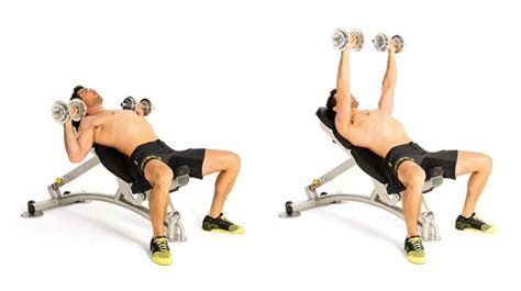 incline bench press dumbbell build muscle fast with these four week workout plans coach