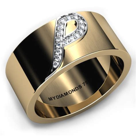Biaggio  Ee  Mens Ee   Initial Diamond Ring Add Initial