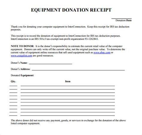donation receipt template 23 donation receipt templates pdf word excel pages