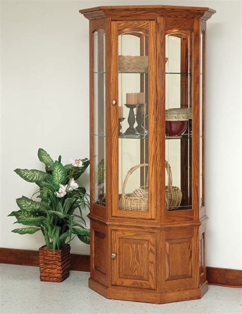 bethel small wall curio amish handcrafted curio cabinets