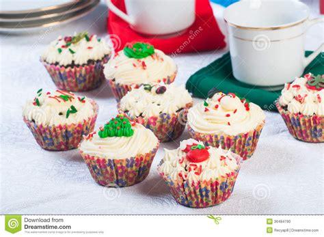 christmas cupcakes stock photo image 36484790