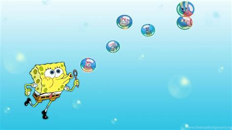 wallpaper spongebob biru spongebob backgrounds wallpapers cave desktop background