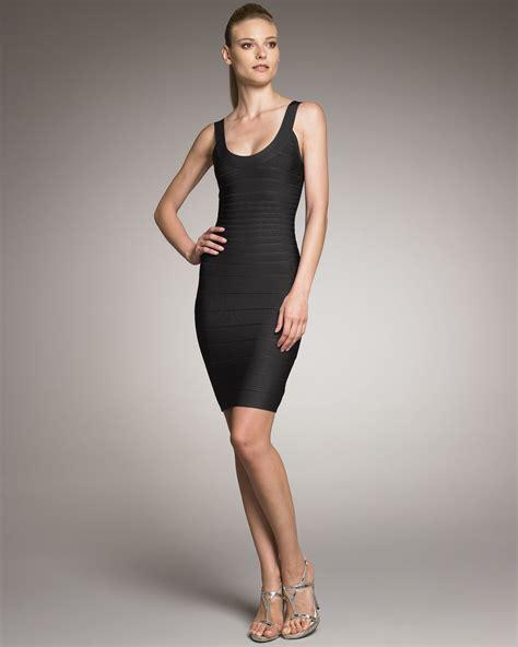 Herve Dress herv 233 l 233 ger basic bandage dress black in black lyst