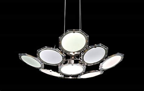 Futuristic Chandelier Featuring 9 Oled Panels Unveiled Oled Lighting Fixtures