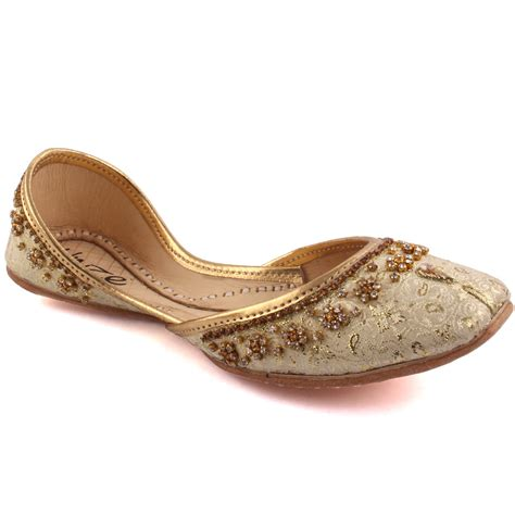 indian slippers unze malla indian khussa slippers uk size 3 8 gold