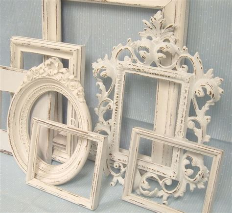 shabby chic picture frames white ornate collection french