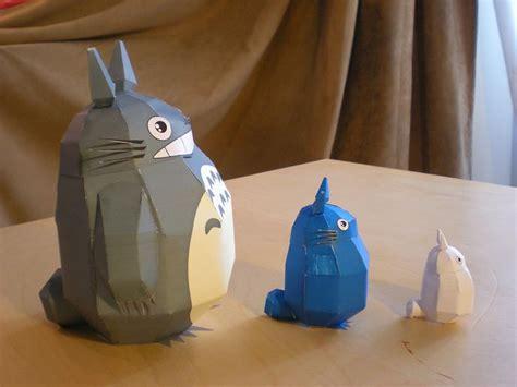 Totoro Papercraft - https flic kr p 98oy6w totoro studioofmm