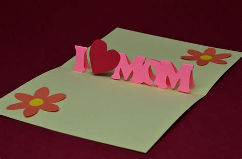 make a pop up card template 20 beautiful and unique mothers day cards unique viral