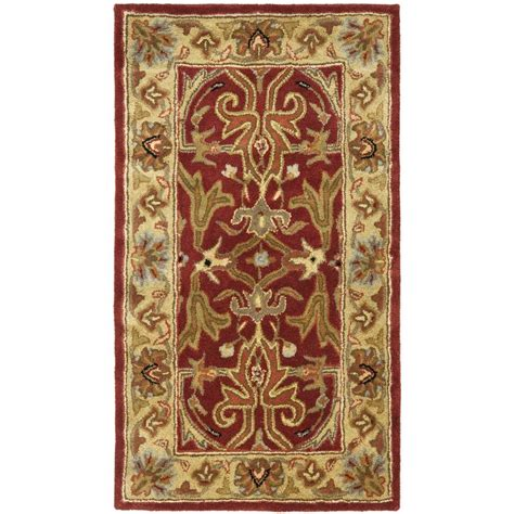 3 x 4 area rug safavieh heritage gold 2 ft 3 in x 4 ft area rug hg644b 24 the home depot