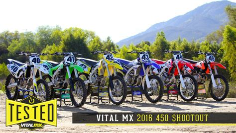 motocross 450 shootout 2016 vital mx 450 shootout motocross feature stories