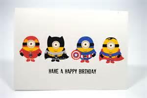 happy birthday card boy despicable me superheroes