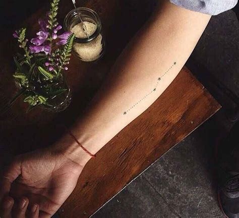 minimalist big dipper constellation tattoo on the back of 18 of the most wanted constellation tattoo designsdesign