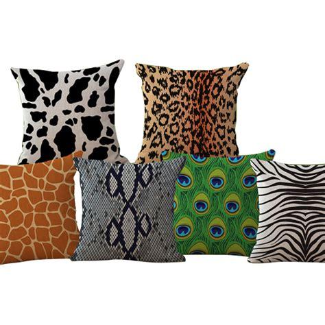 zebra pattern cushions cow zebra animal pattern peacock cushion 45x45cm