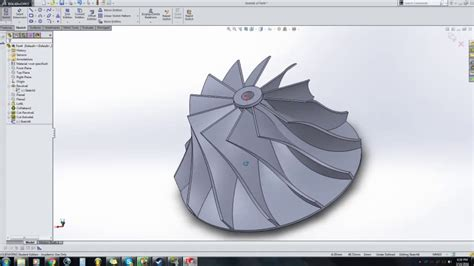 tutorial turbo solidworks how to draw a turbo compressor wheel in solidworks youtube