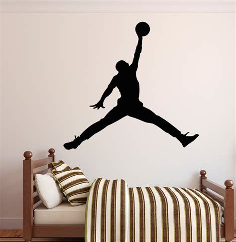 Sticker Michael Air Jump For All Car michael wall decal jumpman decal basketball wall