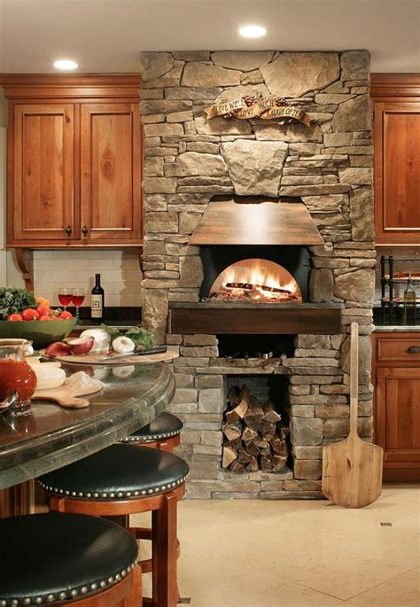 indoor kitchen bilotta traditional kitchens pizza oven fireplace pinterest traditional kitchen oven