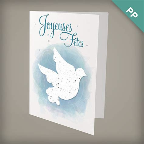 la colombe joyeux no 235 l personalized cards christmas cards french catalog - La Colombe Gift Card