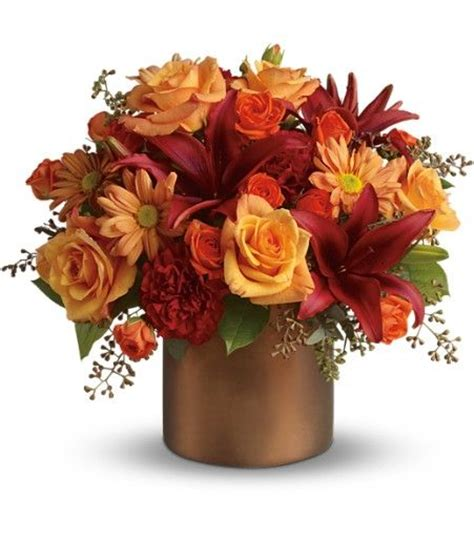 Orange Floral King Sprei these flowers gorgeous orange roses spray roses and chrysanthemums dazzling burgundy