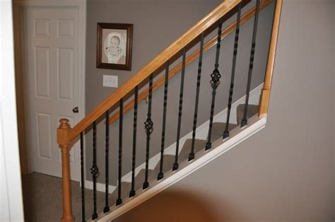 Stair Banister Kits by Indoor Stair Railing Kit Wrought Iron Stair Railings