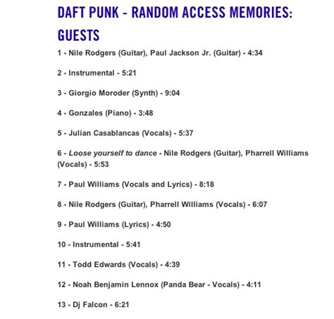 daft punk song list daft punk new album collaborations announced music news