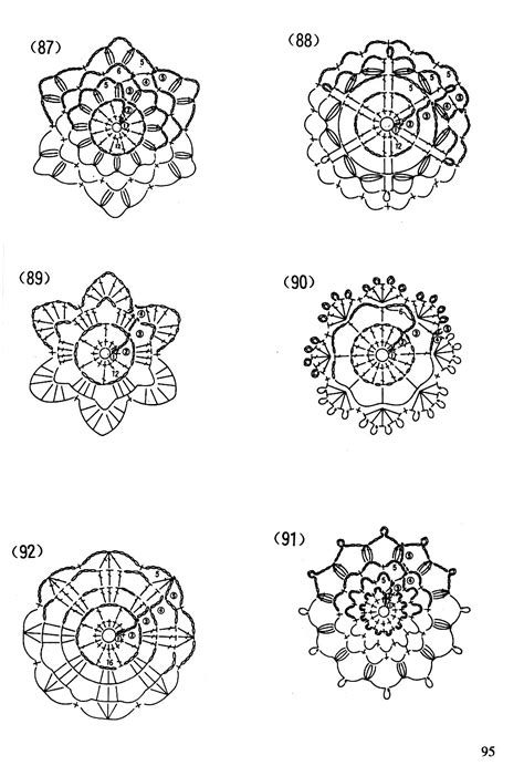 schema fiore macramè schemi uncinetto per fiori
