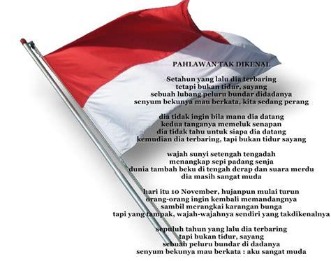 membuat puisi kemerdekaan contoh puisi pahlawan terindah informasi terbaru 2015