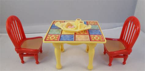 fisher price loving family dollhouse dining room table w