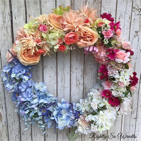 spring wreath  front doorwedding floral decorwedding