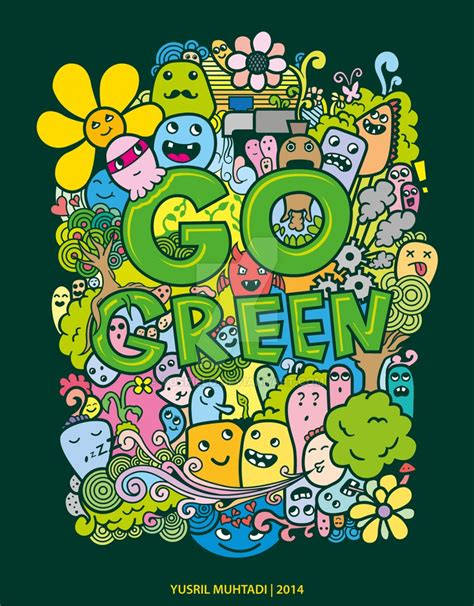 doodle to go go green doodle by yusrielo on deviantart