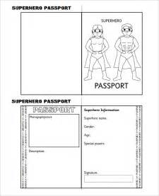 passport template for passport template 19 free word pdf psd illustrator