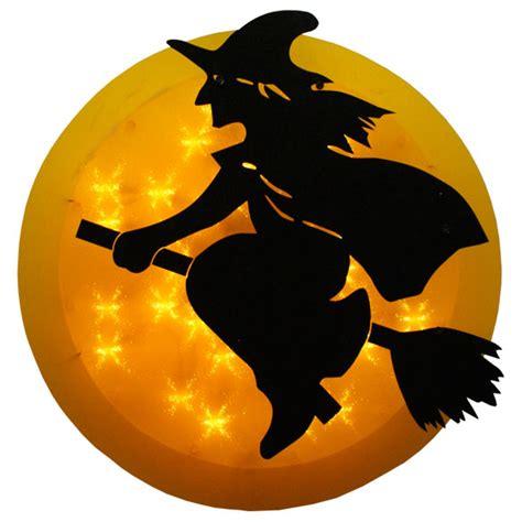 lighted halloween window decorations 14 inch lighted witch in moon halloween window decoration
