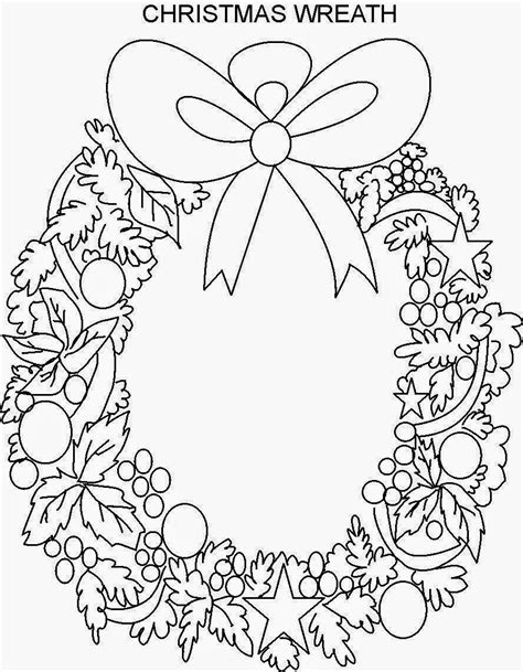 Christmas Wreath Coloring Pages Zimeon Me Wreaths Coloring Pages