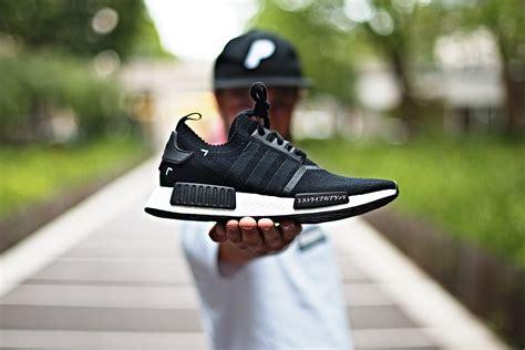 Adidas Nmd R1 Black Gs Original Sneakers adidas nmd r1 primeknit black japan sneakers addict
