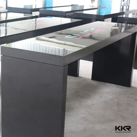 office kitchen table acrylic solid surface artificial bar table with
