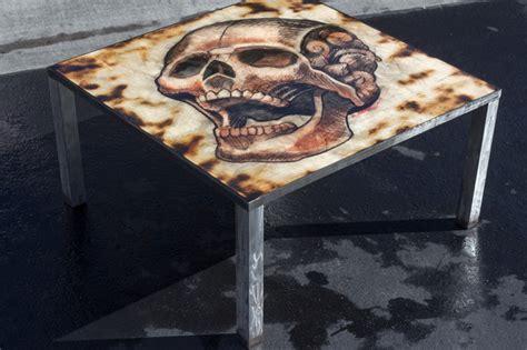 skull table industrial coffee tables las vegas by