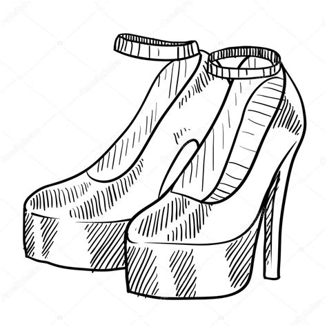 Heel Fashion 1398 high heeled schuhe skizze stockvektor 169 lhfgraphics