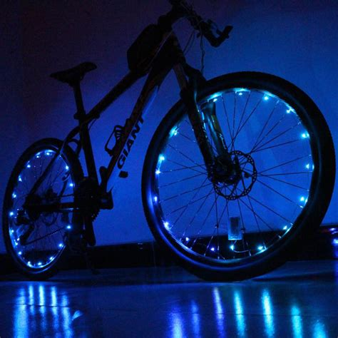 lights on wheels of a bicycle 1pcs 20 led colorful shining waterproof bicycle lights
